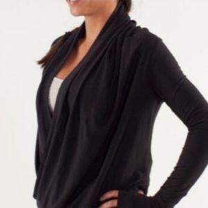 Lululemon wrap Knit Sweater black